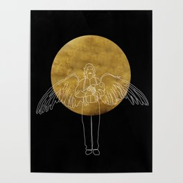 michael and the moon Poster