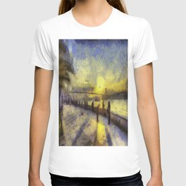 Bosphorus Sunset Van Gogh T-shirt