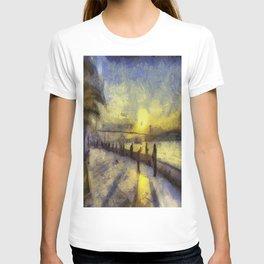 Bosphorus Sunset Van Gogh T-shirt