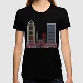Jacksonville skyline poster T-shirt