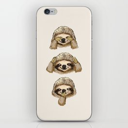 No Evil Sloth iPhone Skin