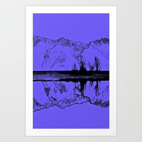 Knik River Mts. Pop Art - 1 Art Print
