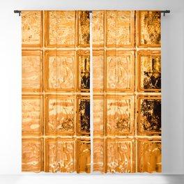Orange Glass Blackout Curtain