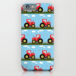 Toy tractor pattern iPhone Case
