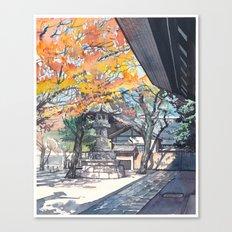 A shrine in autumn Canvas Print