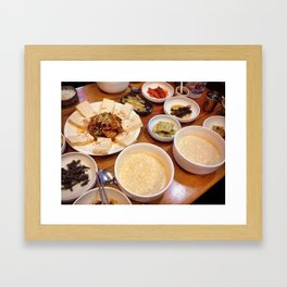 Vegan Korean Food, Seoul, South Korea Framed Art Print