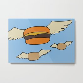 Bob's Burgers Flying Hamburger picture Metal Print