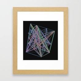 Geometric Diamond Light Prism Framed Art Print