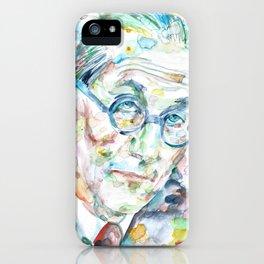 LE CORBUSIER - watercolor portrait iPhone Case