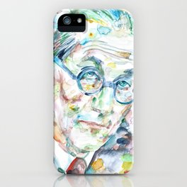 LE CORBUSIER - watercolor portrait iPhone Case