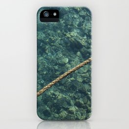 Rope over clear water iPhone Case