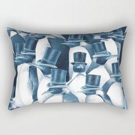 A Gathering of Gentlemen (square format) Rectangular Pillow