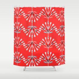 Retro Flower 6 Shower Curtain