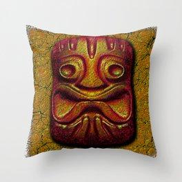 Tiki Tile Glazed Clay Throw Pillow