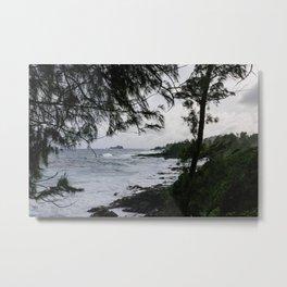 Maui through the Trees Metal Print