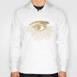 I See You. Vintage Gold Antique Paper Hoody