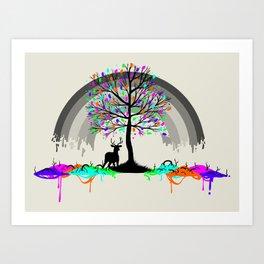 Melting Colors Parasite Art Print