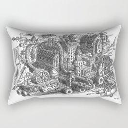 The City & Roller Coaster Caravan moving Rectangular Pillow