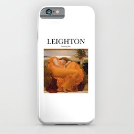 Leighton - Flaming June iPhone Case