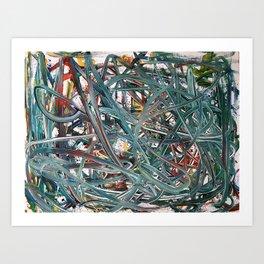 Scramble of disruption Art Print