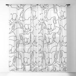 Minimalist Koala Sheer Curtain