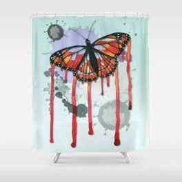 Leaking butterfly Shower Curtain