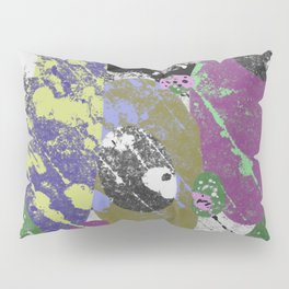 Gather Together - Abstract, pastel coloured, textured, artwork Pillow Sham