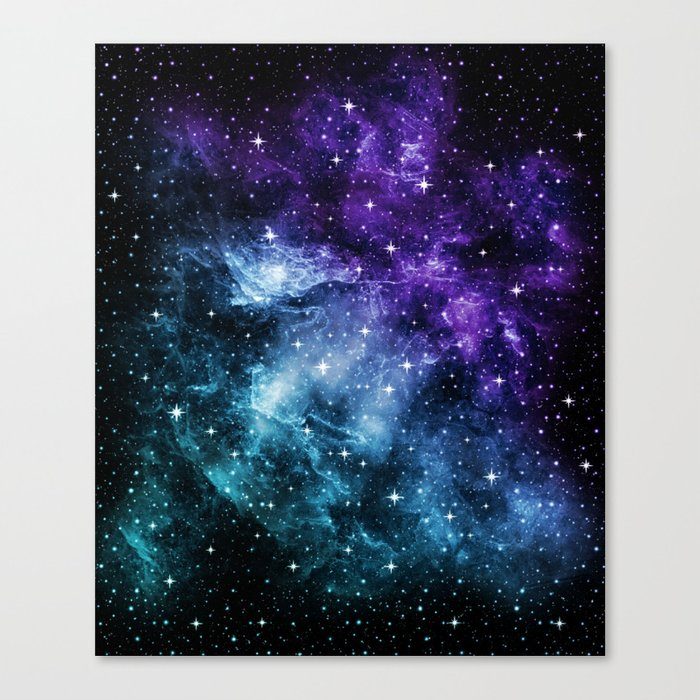 Purple Teal Galaxy Nebula Dream #1 #decor #art #society6 Leinwanddruck