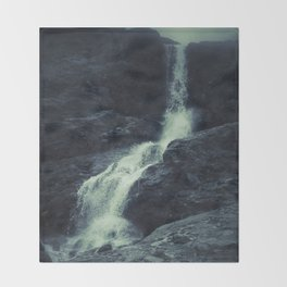 Queen waterfalls. Iphone photography. Throw Blanket