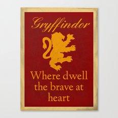 Gryffindor The Brave Canvas Print