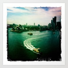 Sydney Harbour Opera House Art Print
