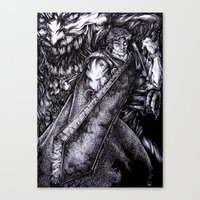 berserk Canvas Prints featuring Berserk by lcillustrations
