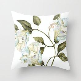 Spring White Flowers Throw Pillow