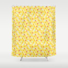 Honeycomb - Sunshine Yellow Shower Curtain
