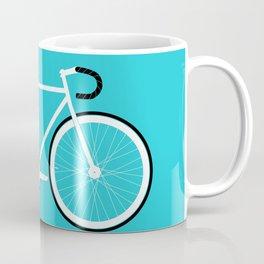 Turquoise Fixed Gear Road Bike Coffee Mug