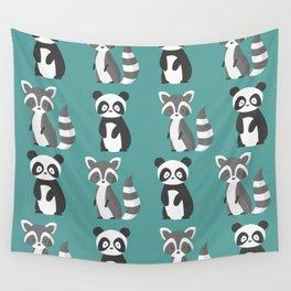 panda and raccoon Wall Tapestry