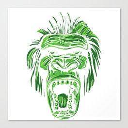 GORILLA KING KONG - Green Canvas Print
