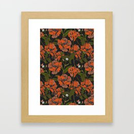 Autumnal flowering of poppies Framed Art Print