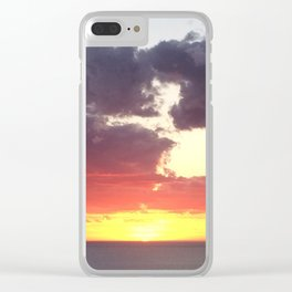 Glorious sunset in Adelaide, South Australia, Moana sandy beach Clear iPhone Case