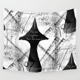 The Pen is Mightier Than The Sword Wall Tapestry