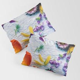 Bouquet of Petals and Flowers Still Life Pillow Sham