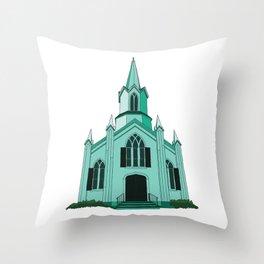 Union Church Throw Pillow