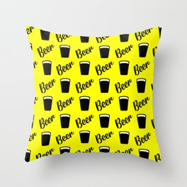 beer pattern for modern homes Throw Pillow