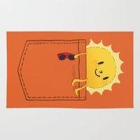 budi satria kwan Area & Throw Rugs featuring Pocketful of sunshine by Picomodi