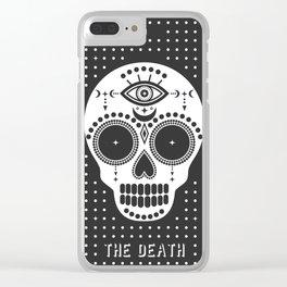 Minimal Tarot Deck The Death Clear iPhone Case