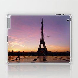Eiffel Tower in a Pink Sunrise Laptop & iPad Skin