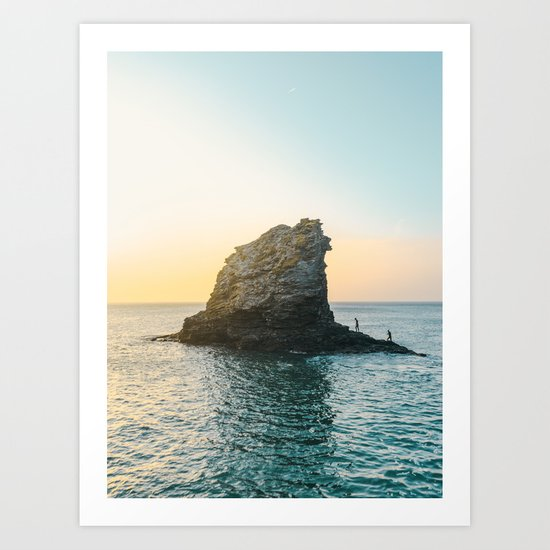 Rock in the sea 2 Art Print
