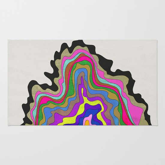 Color Wave Rug