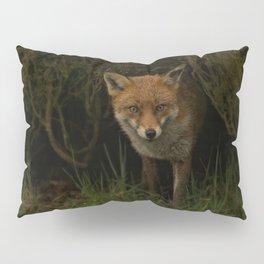 Fox Peeking Through The Hedge Pillow Sham