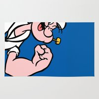 popeye Area & Throw Rugs featuring Popeye by Jason Michael